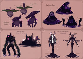 Bracken Bog Monster Designs by fr00tsnak