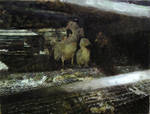 Japanese Bantam Chick 2 - Oil Painting