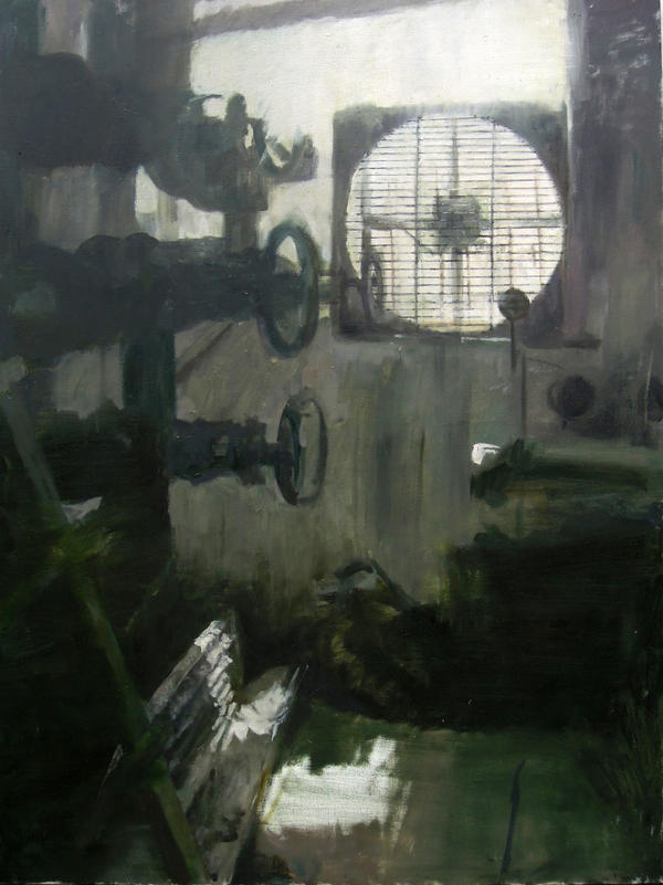 Engine Room - Oil Painting