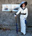 Rose Titanic sailing dress