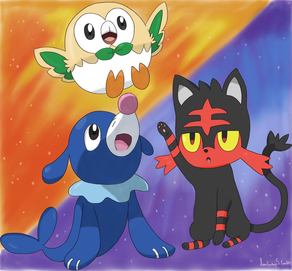 Pokemon Starters Fan Art Images