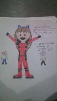 Gaby como Deadpool