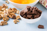 Chocolate chunks in a bowl