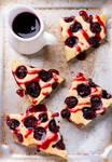 Homemade cherry cake with sauce