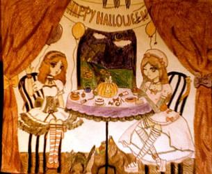 Happy Halloween TeaTime C : by VocaloidReina13