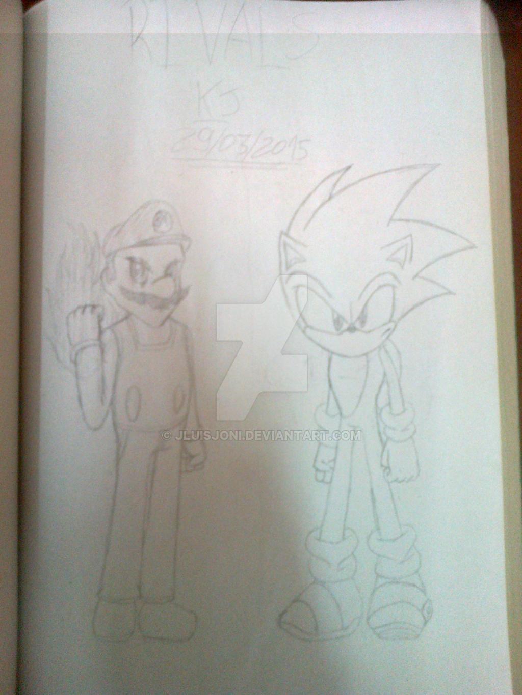 Eternal Rivals: Mario VS Sonic by KuraiJinx