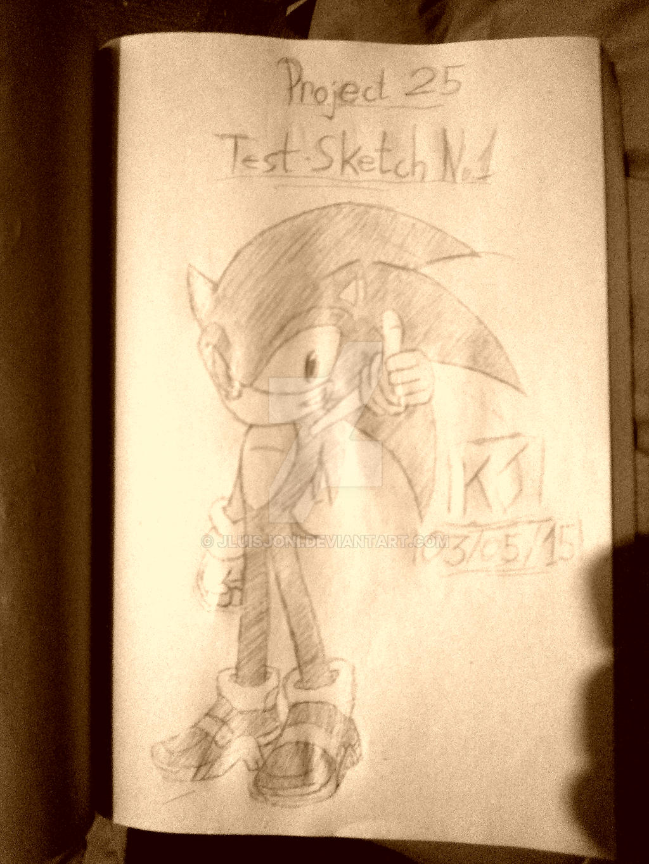 SA2 Sonic Project 25 Sketch 1 by KuraiJinx