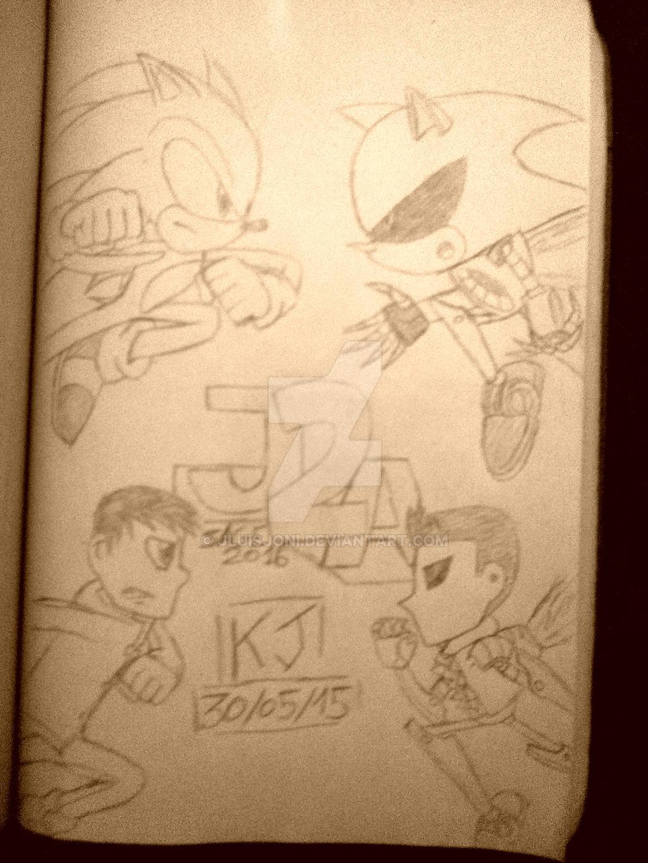 Confrontation with the copies by KuraiJinx