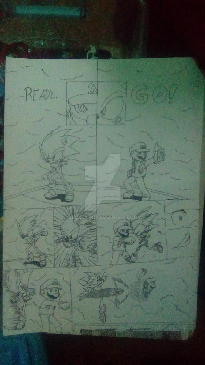 Mario VS Sonic Page2: Sonic Speed! by KuraiJinx