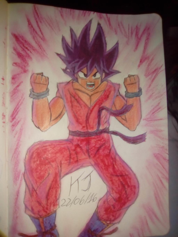 Son Goku's San-Bai(Three Times) Kaio-Ken by KuraiJinx