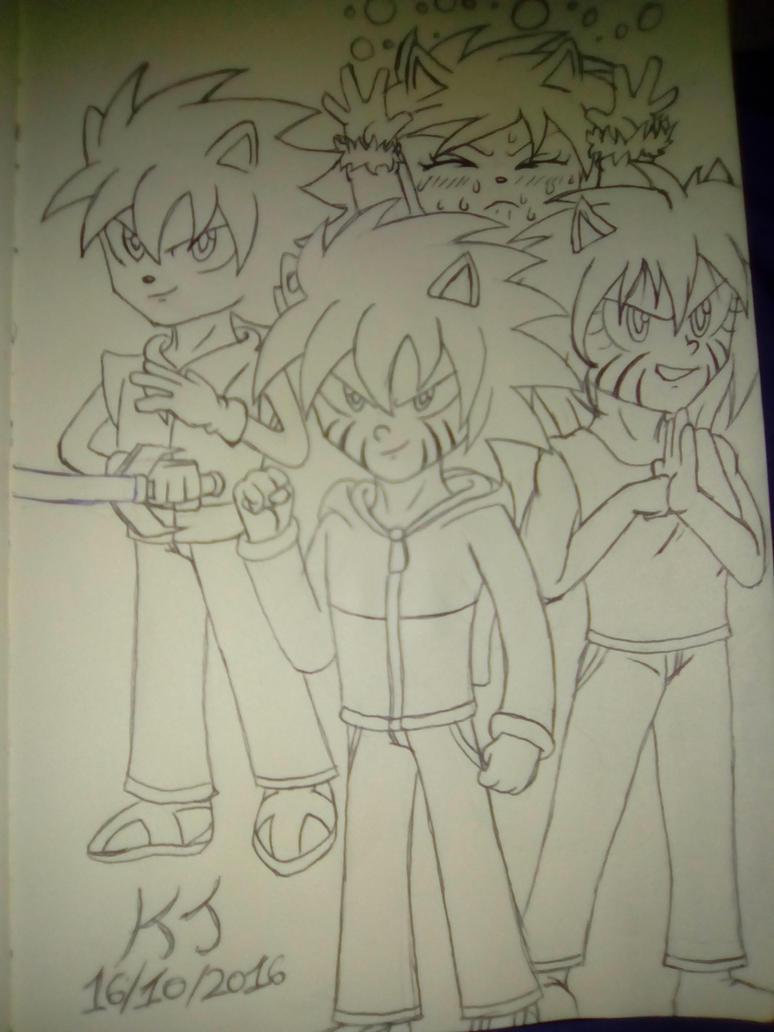 The main protagonists. by KuraiJinx