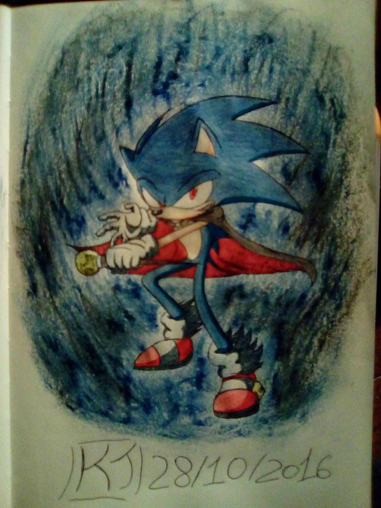 Halloween Sonic by KuraiJinx