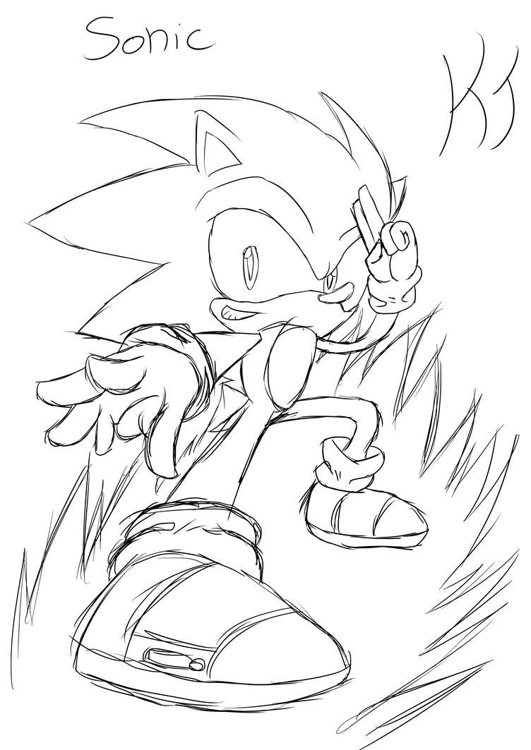 Sonic Doodle by KuraiJinx