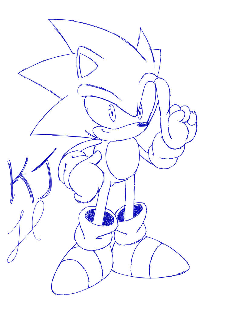Perfect Sonic Doodle by KuraiJinx