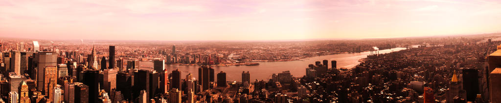 Empire State View At Sunset by ErinM2000