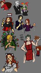 Christmas sketches (drunk edition) by Narakyo