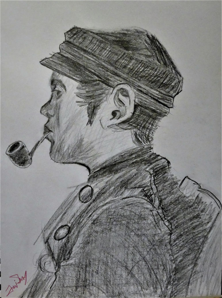 Master Study Young Man With Pipe by SNTDJF