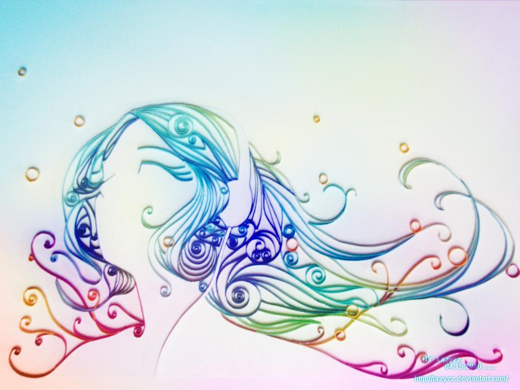Paper art by lazyzz on deviantart - Paper quilling art wallpapers ...