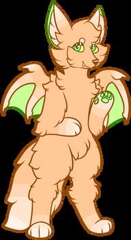Peach Bat Fox Adopt ~HALF OFF - OPEN~