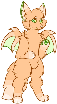 Peach Bat Fox Adopt ~HALF OFF - OPEN~