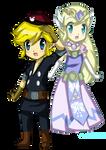 TloZ SP: Toon Link and Toon Zelda