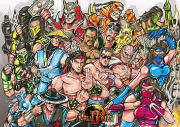Mortal Kombat 2 characters by Sw-Art