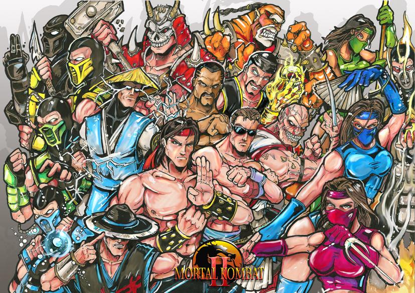 Mortal Kombat 2 characters by SwArt on DeviantArt