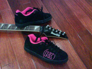New shoes + my Ibanezzzz