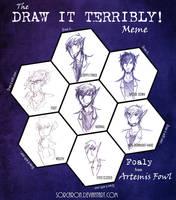 AF - Draw It Terribly! Meme - Foaly by Sorcaron