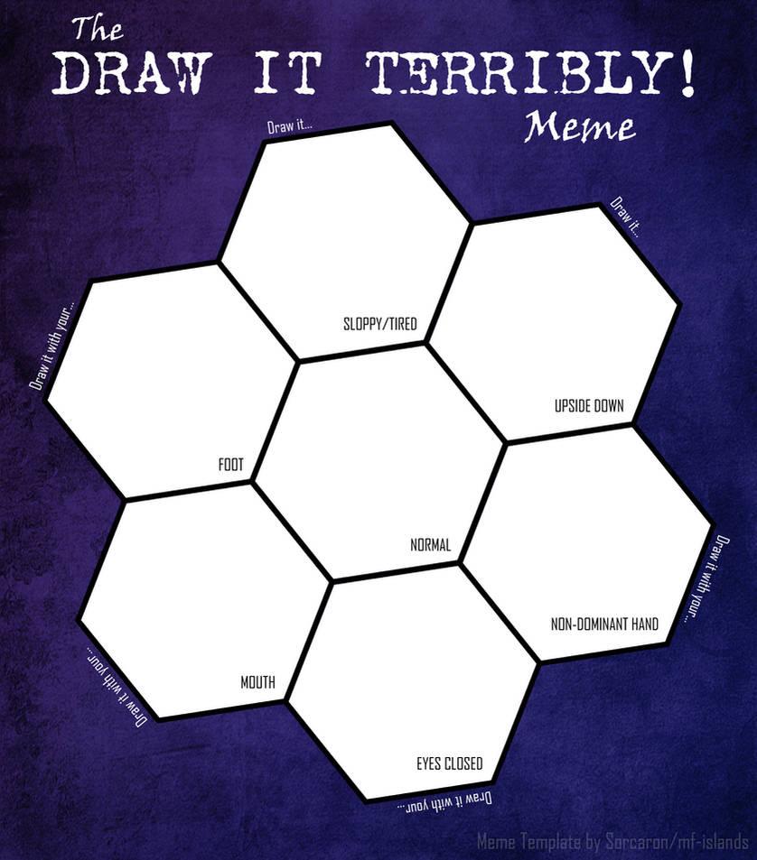 Draw It Terribly! Meme (blank) by Sorcaron
