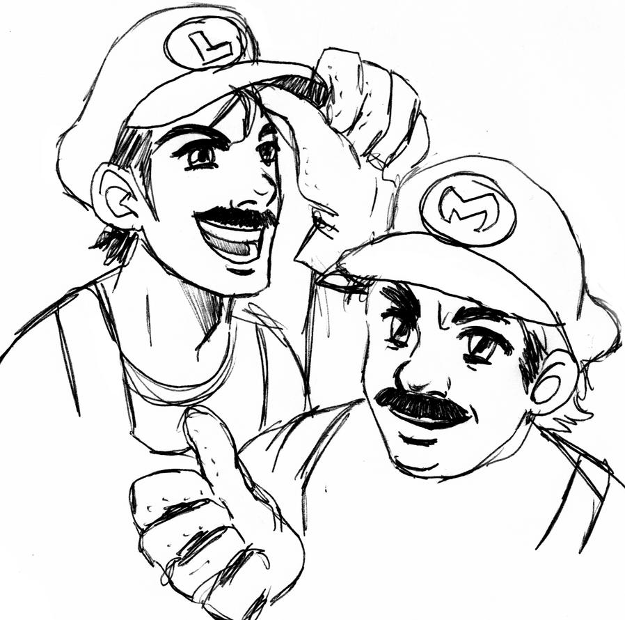 Comission - MARIO N' LUIGI by lerato