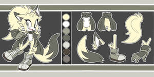 Amber the Fox Reference Sheet