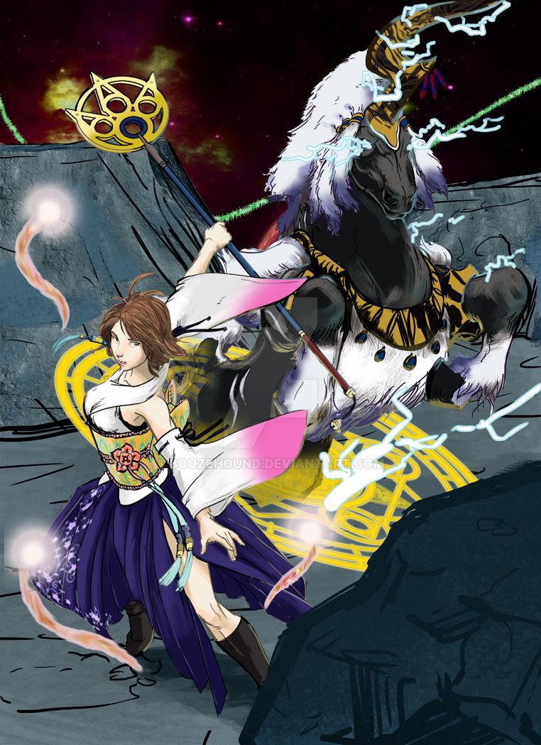 Yuna the High Summoner by Boozehound