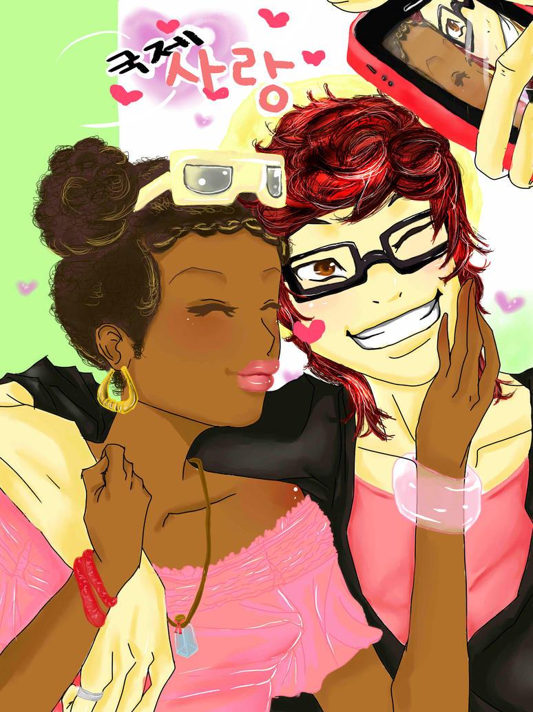 Interracial dating art
