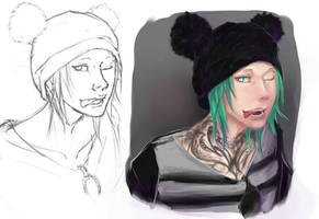 .:TK:. Tairi sketch and quick paint by LainyLu