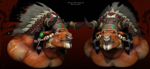 Baine bloodhoof bust by DimiDevos