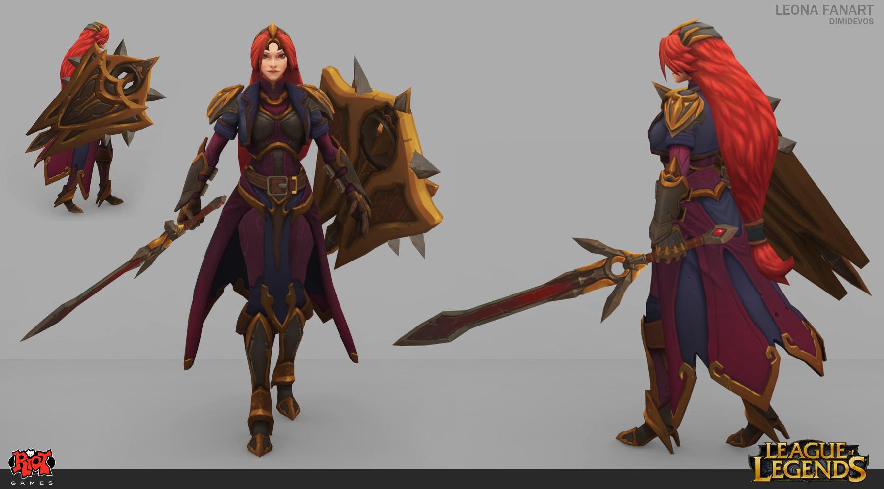 Leona Classic Skin Redesign By Dimidevos On Deviantart