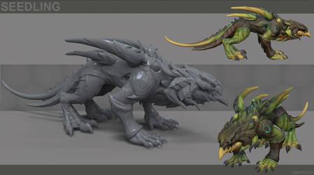 Seedling dragon by DimiDevos