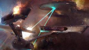 Star Trek Battle by Blueshadow-the-pony