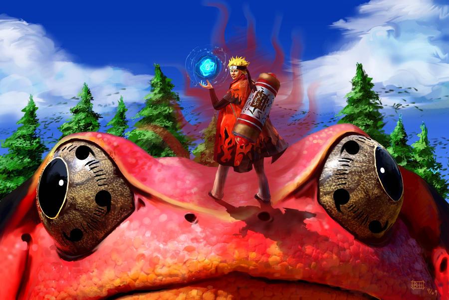 6th Hokage And Uchiha Toad by angryangler