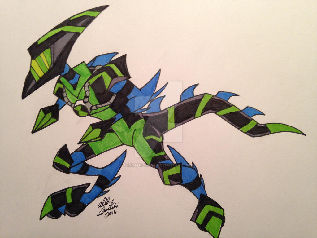How to draw ben10 alien xlr8 - Ultimate Xlr8 By Insanedude24