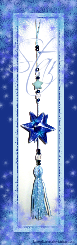 Shiny little blue star by KarenKaren