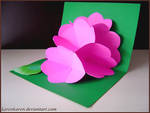 Kirigami flower card
