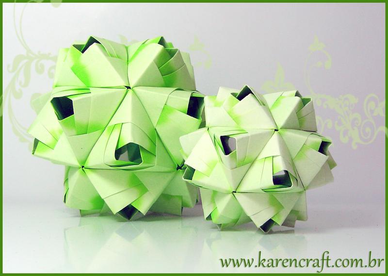 Kusudama - Green Bascetta by KarenKaren