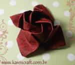 Kawasaki rose in fabric
