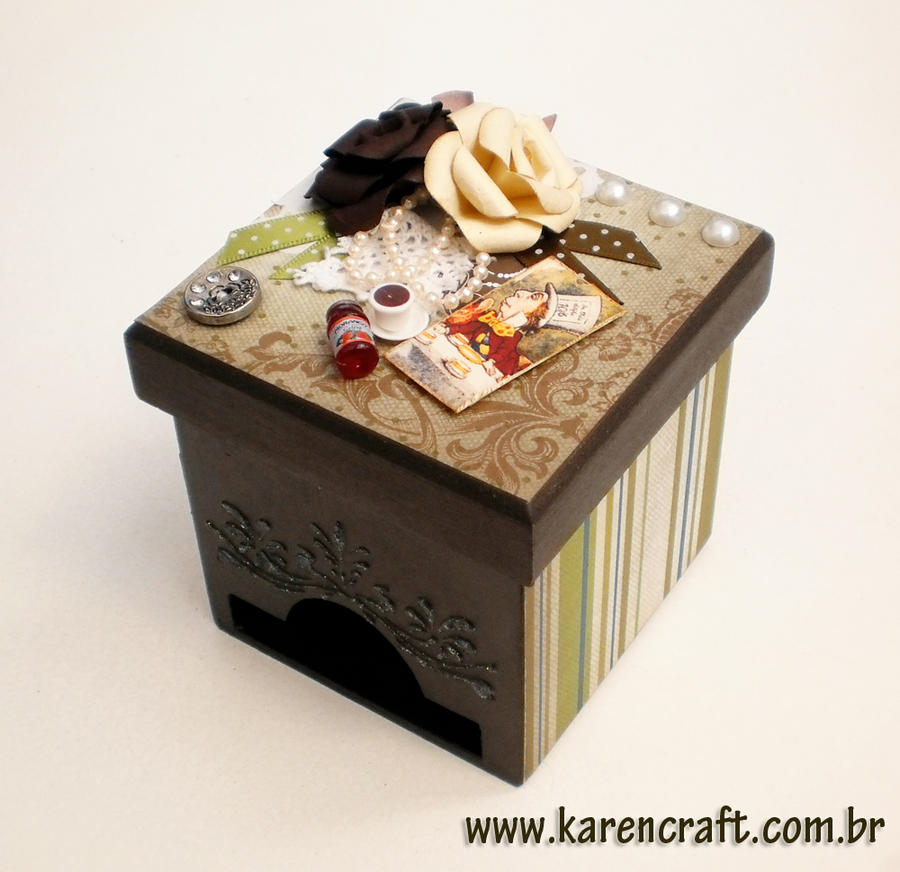 Mad Hatter Tea box by KarenKaren