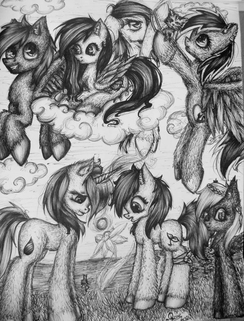 (Almost) all pony OCs by McJusti