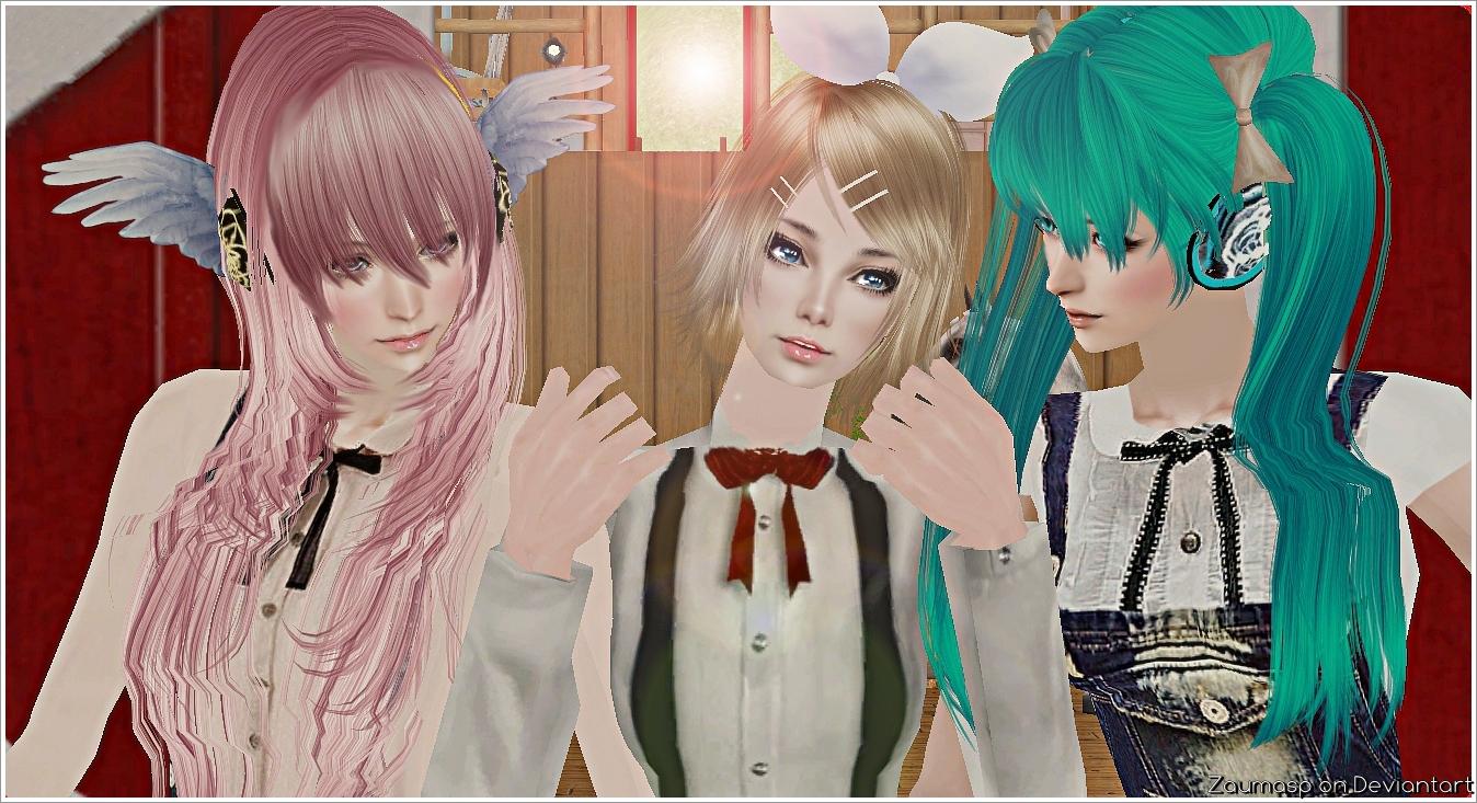Luka, Rin and Miku by ZaumaSP