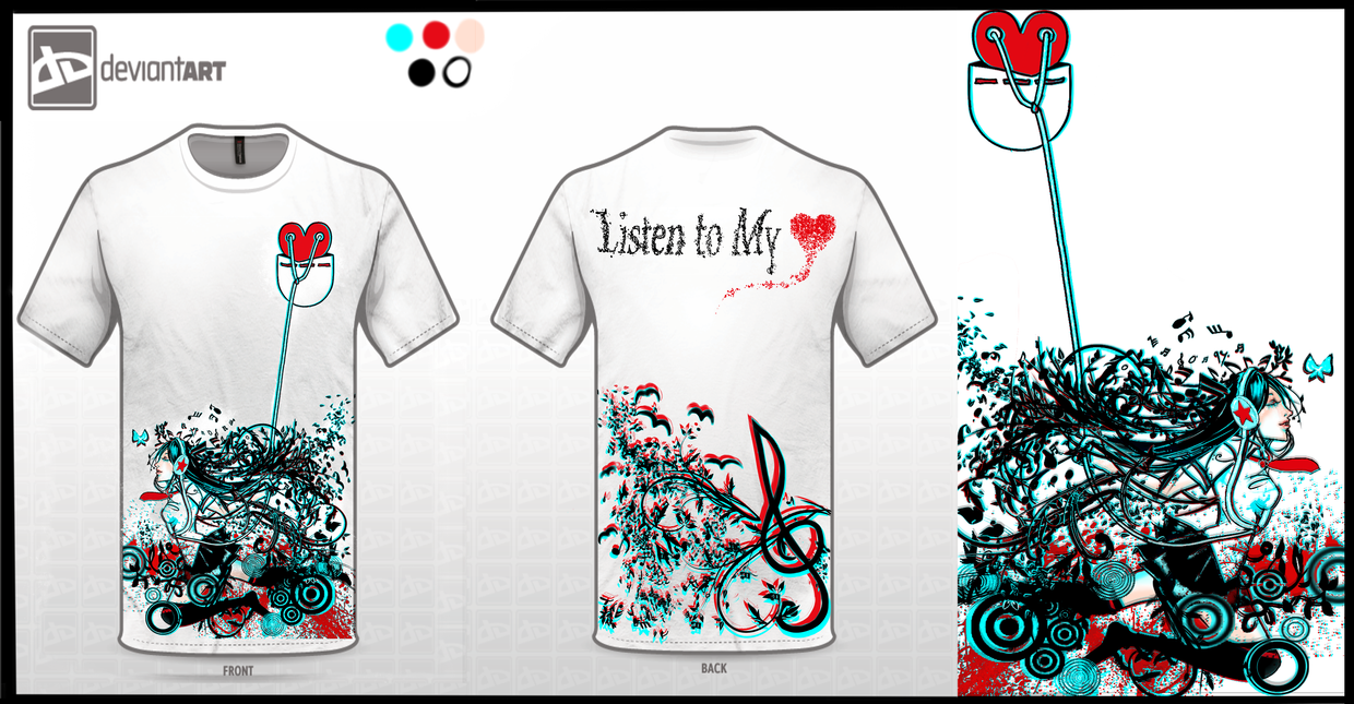 :: Listen to My Heart T-Shirt Design  :: by Sangrde