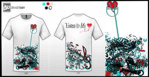 :: Listen to My Heart T-Shirt Design  ::